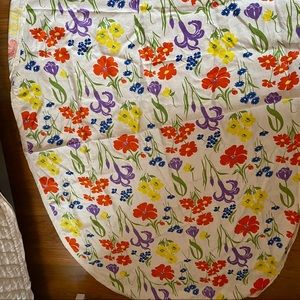 Vintage retro linen tablecloth